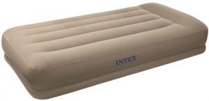 67742 Надувная кровать Pillow Rest Mid-Rise Bed 99х191х35см с подголовником, встроенный насос 220V