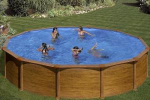 Каркасный бассейн GRE KITPR558WOMAG круглый 550x132 см