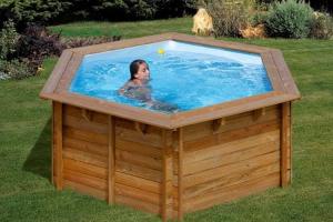 Круглый деревянный бассейн 295x98 см LILI GRE 790080