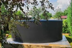 Сборный бассейн ЛАГУНА 30510 круглый 305х125 см (платина)