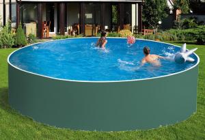 Сборный бассейн ЛАГУНА 45718 круглый 457х125 см (зеленый)